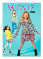 McCall's Girl's 7274 - Sew Zoey Ruffle Separates
