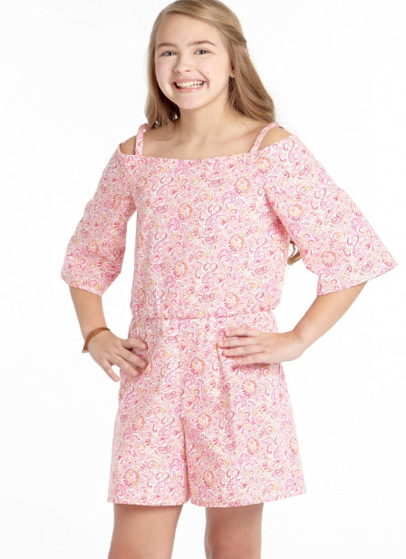 McCall's Girl's 7590 - Off-The-Shoulder Tops & Dress