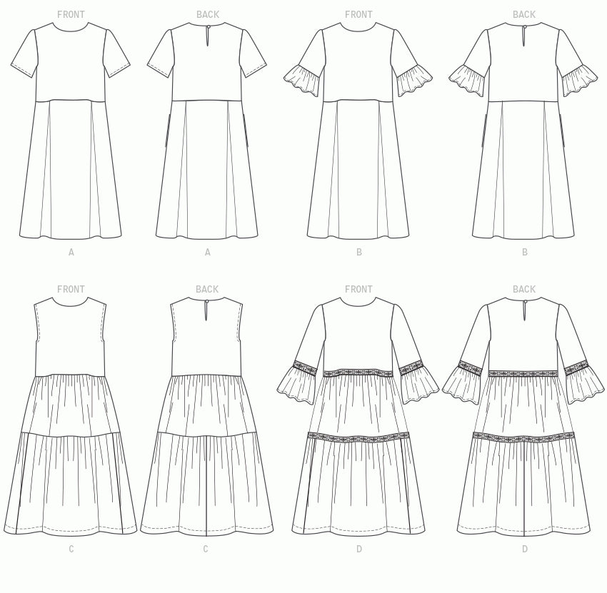 Sew A Tiered or Pleated Dress