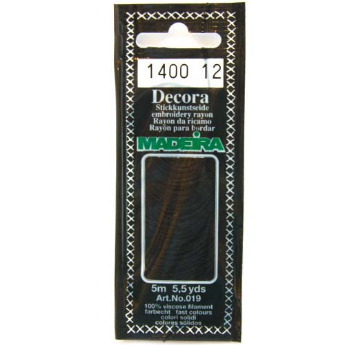 Decora Hand Embroidery Thread - Black 1400
