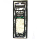 Decora Hand Embroidery Thread - White 1401