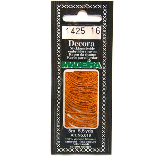 Decora Hand Embroidery Thread - Golden Brown 1425