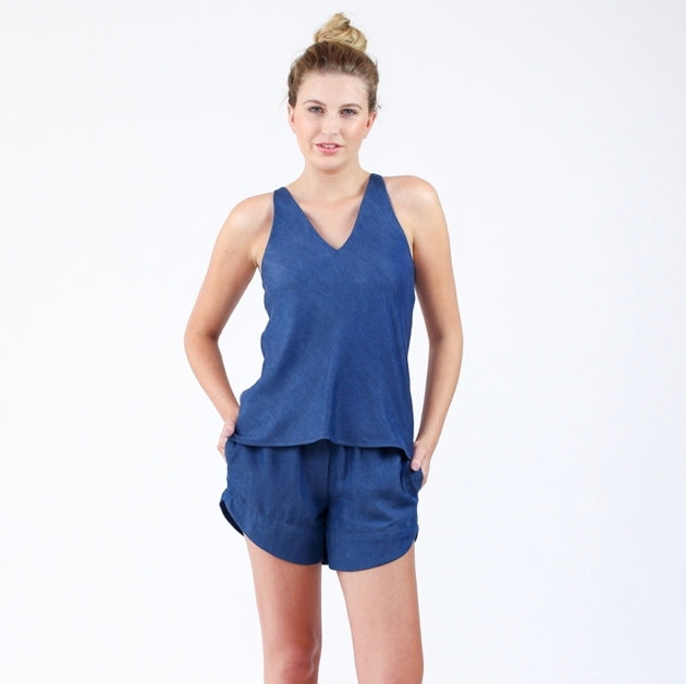 Megan Nielsen - Reef Camisole & Shorts Set