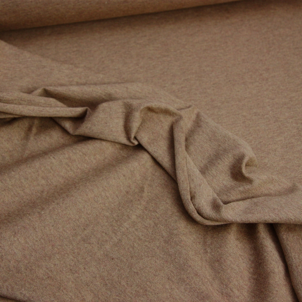 Melange Cotton Jersey - Coffee