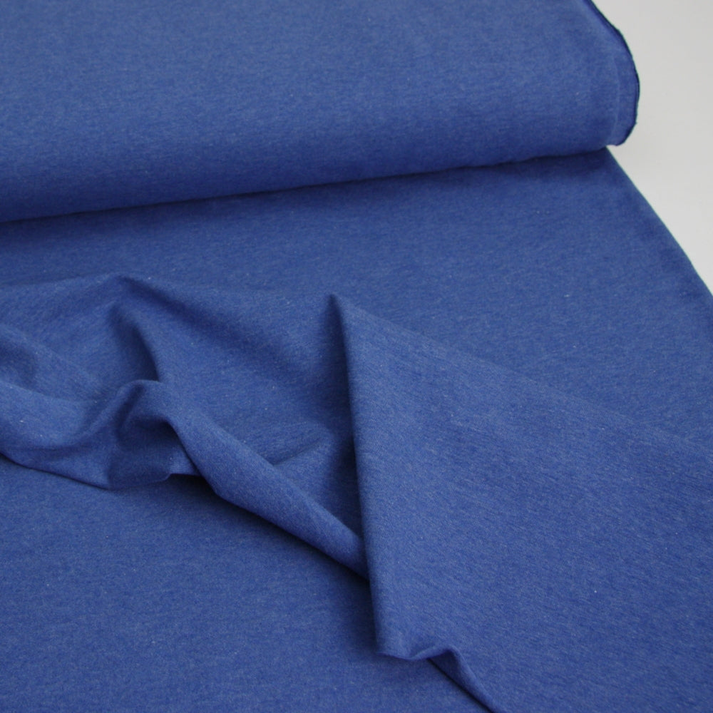 Melange Cotton Jersey - Royal Blue