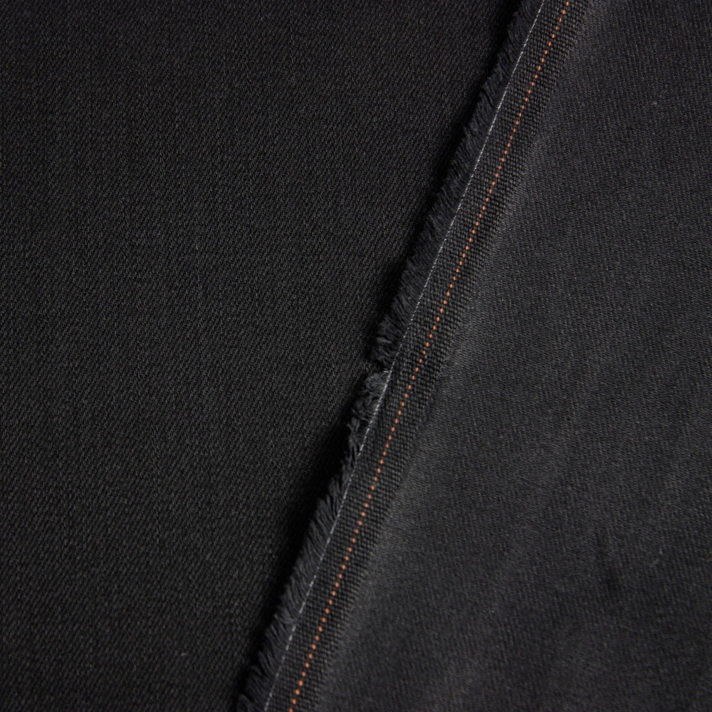 Mondrian Black Cotton Denim