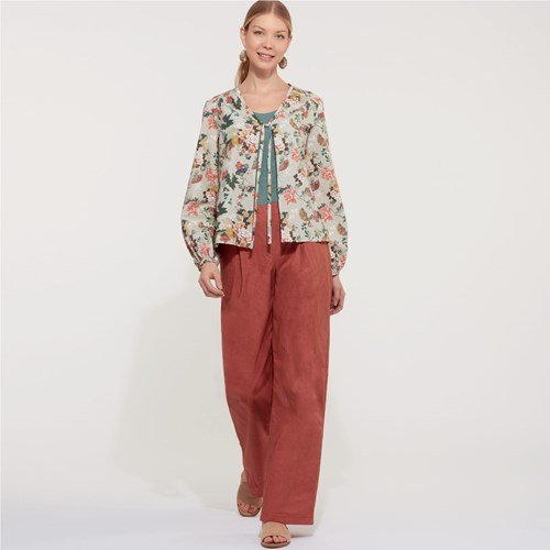 New Look Women's 6608 - Misses' Jacket, Pants and Top