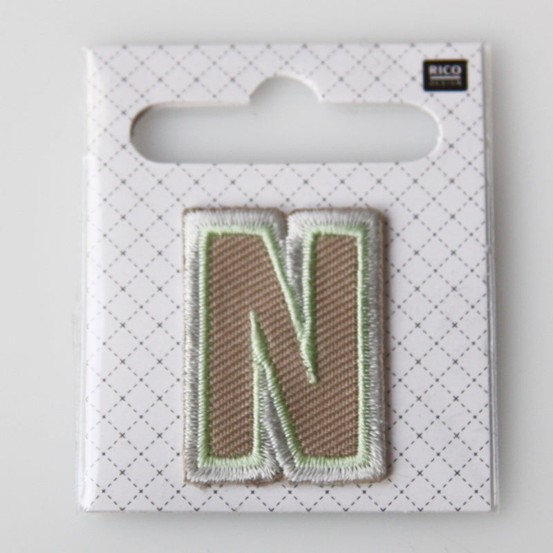 Iron-On Alphabet Patch - N