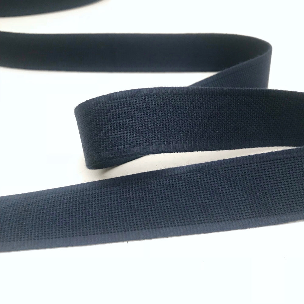 Cotton Strap Webbing - Navy Blue