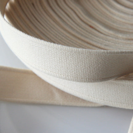 Cotton Strap Webbing - Cream