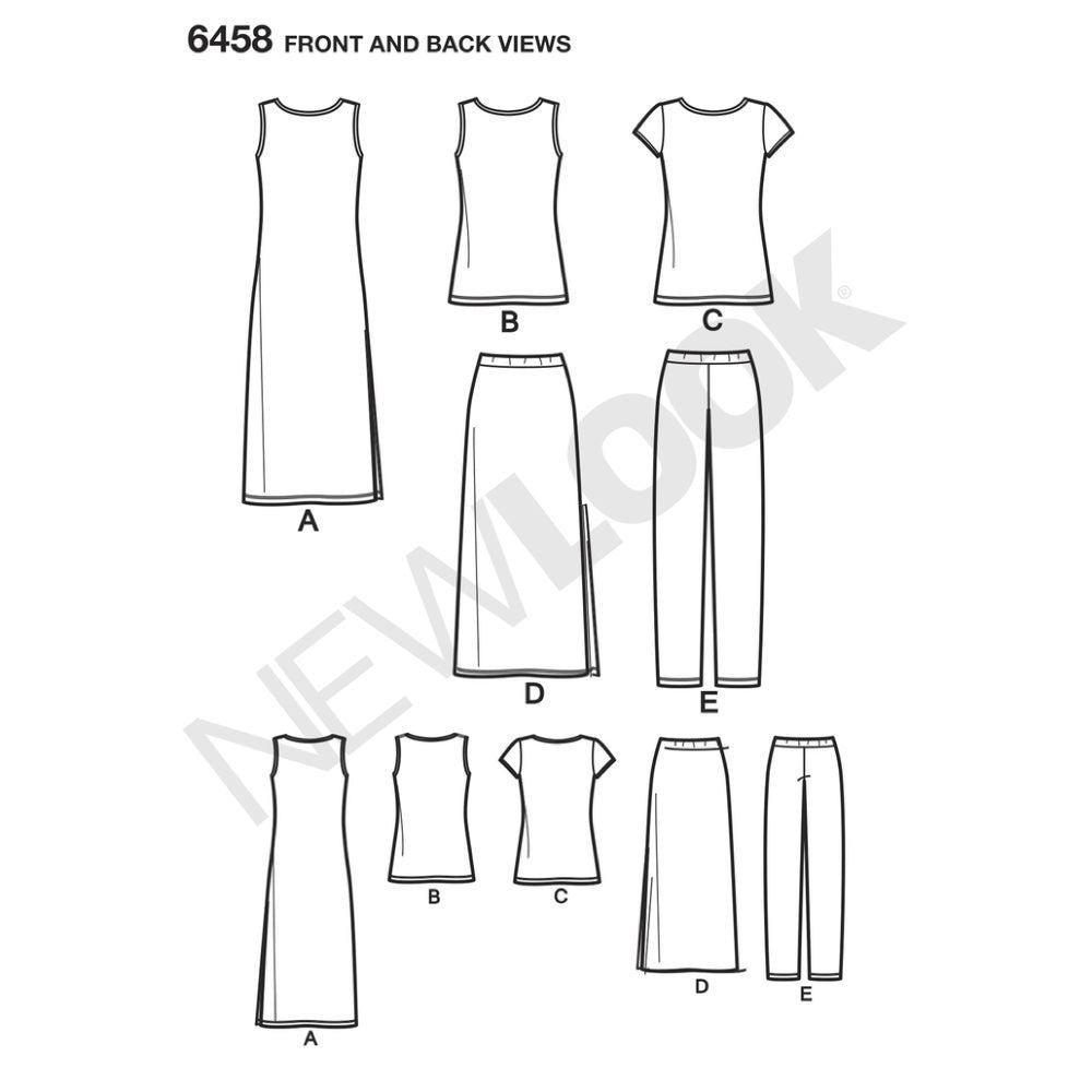 New Look Women's 6458 - Easy To Sew Knits