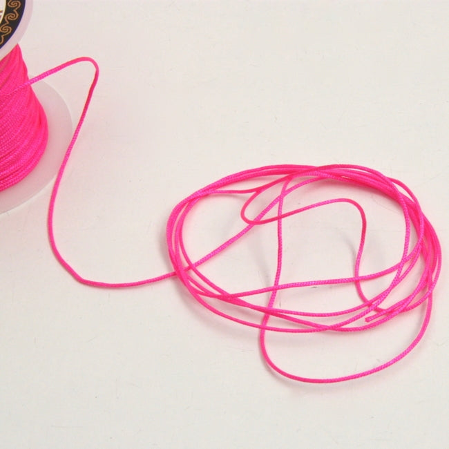 Nylon Bracelet Cord - Hot Pink 1mm