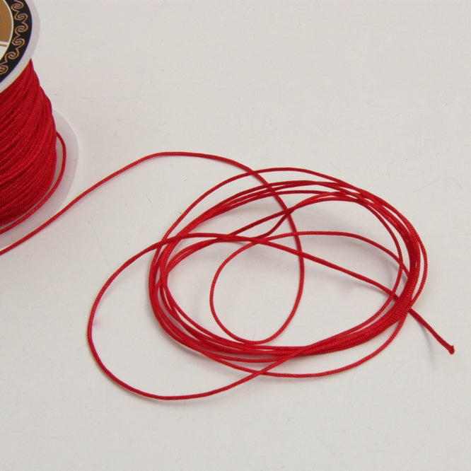 Nylon Bracelet Cord - Red 1mm