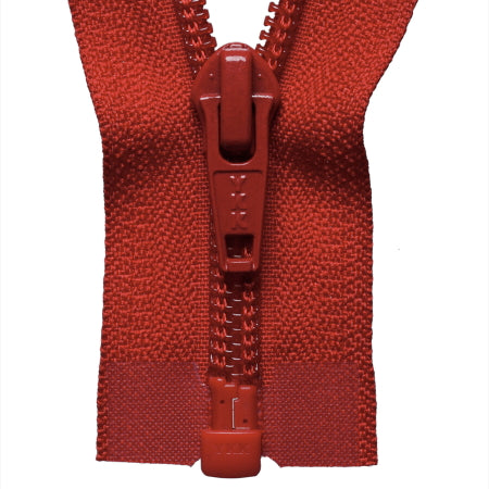 Heavy Nylon Open-Ended Zip - Red 519