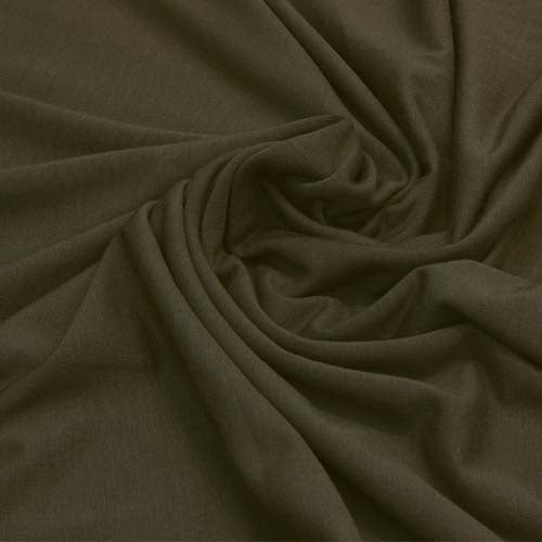 Ray Stitch Micromodal Single Jersey - Dark Olive