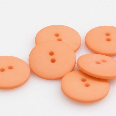 Satin Polyester Buttons - Orange
