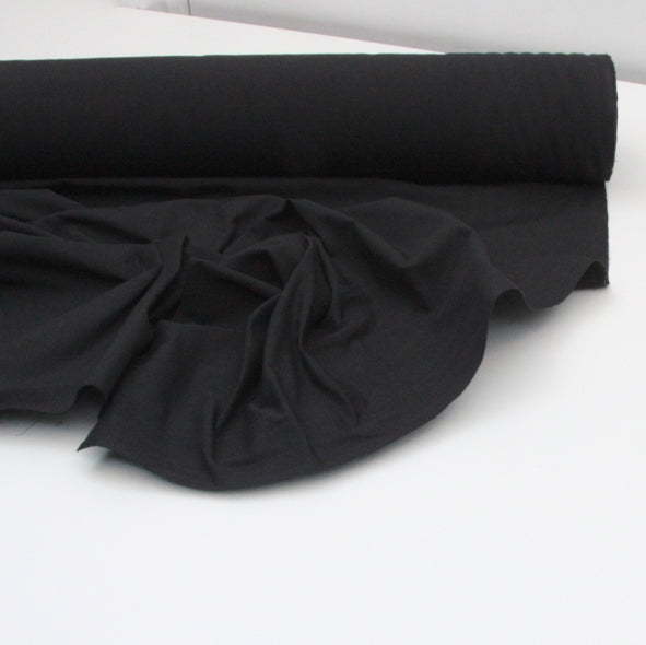 Organic Cotton - Mediumweight Handloom - Black