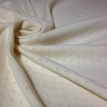 Organic Cotton Pointelle Jersey - Off White