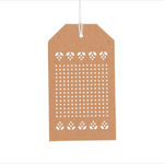 Cross Stitch Gift Tag Kit - Kraft
