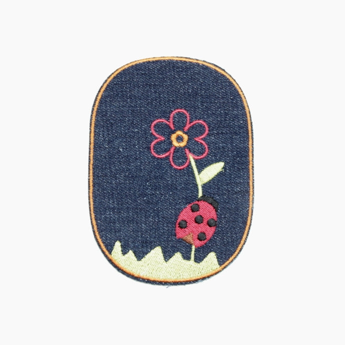 Iron-on Children's Patches - Ladybird Dark Denim