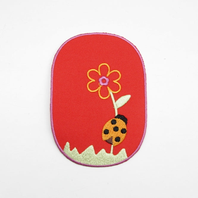 Iron-on Children's Patches - Ladybird Red