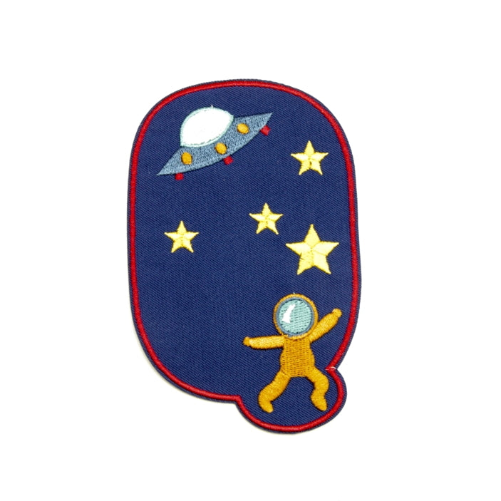 Iron-on Children's Patches - Spaceman Blue