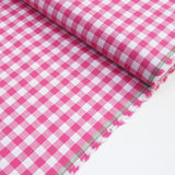 Wide Cotton Gingham - Pink 10mm