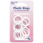 Hemline - Plastic Curtain Rings 19mm