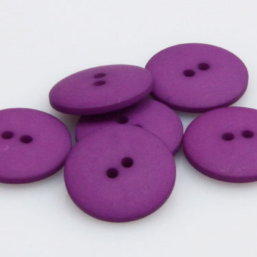 Satin Polyester Buttons - Plum