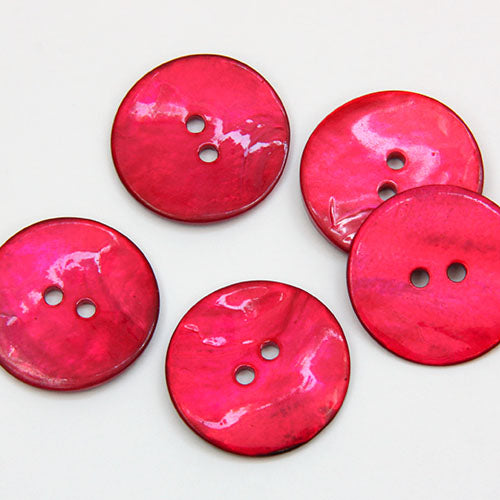 Coloured Shell Buttons - Pomegranate