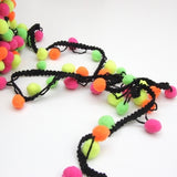 Pom Pom Edging - Multi Fluoro