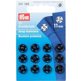 Prym 341166 - Snap Fasteners - Black 11mm
