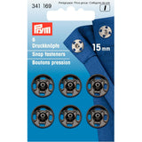 Prym 341169 - Snap Fasteners - Black 15mm