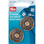 Prym 341261 - Snap Fasteners - Antique Brass 30mm