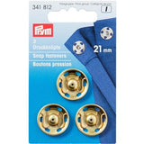 Prym 341812 - Snap Fasteners - Gold 21mm