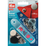 Prym 390376 - Anorak Press Fasteners - Silver 20mm