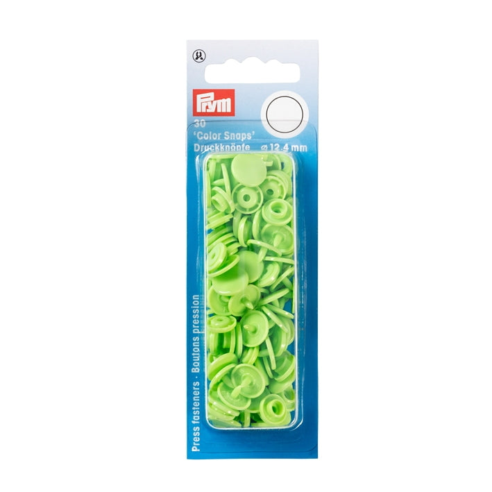 Prym 393144 - Colour Snaps 12.4mm - Apple Green