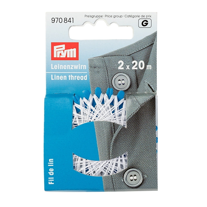 Prym 970841 - Linen Thread - White