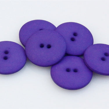 Satin Polyester Buttons - Purple