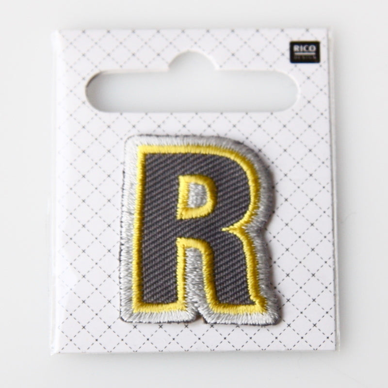 Iron-On Alphabet Patch - R