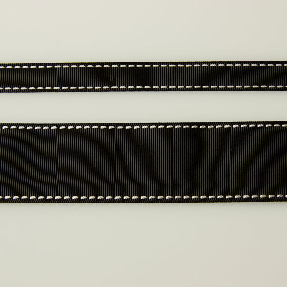 Grosgrain Stitch Ribbon - Black