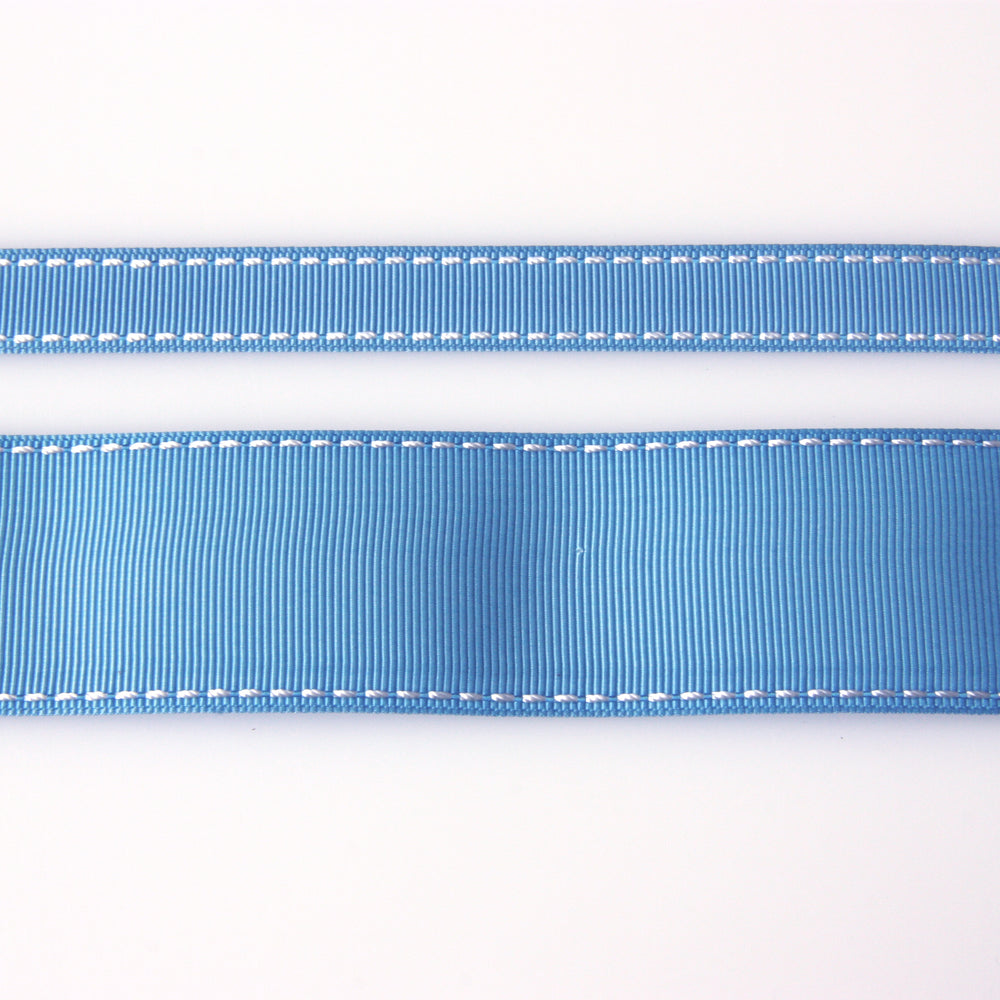 Grosgrain Stitch Ribbon - Copen Blue