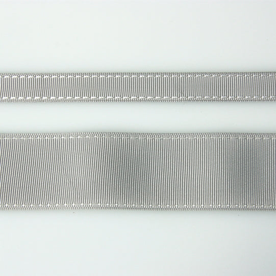 Grosgrain Stitch Ribbon - Light Grey