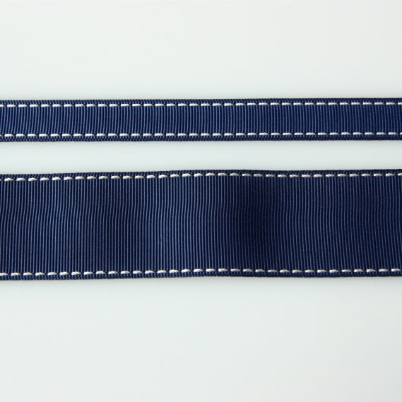 Grosgrain Stitch Ribbon - Navy