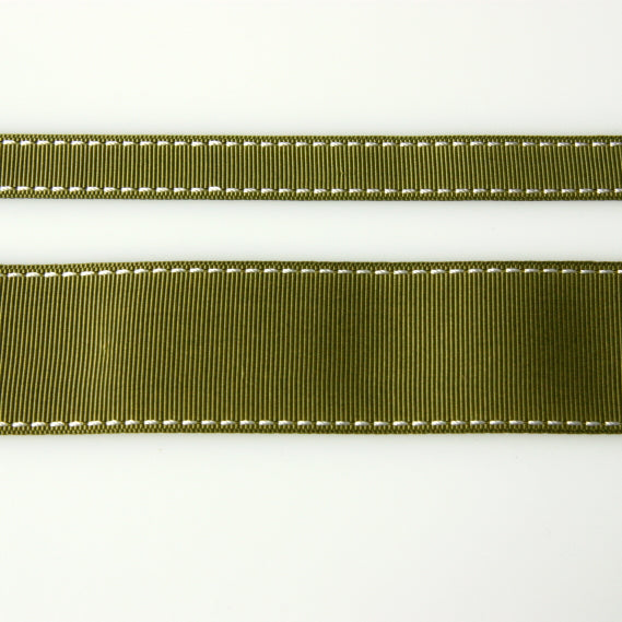 Grosgrain Stitch Ribbon - Olive