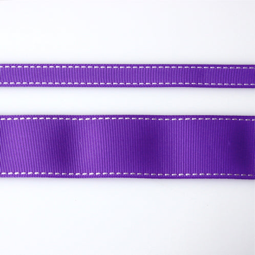 Grosgrain Stitch Ribbon - Purple