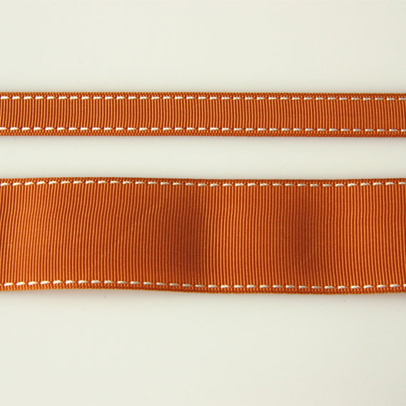 Grosgrain Stitch Ribbon - Tan