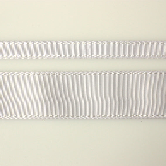 Grosgrain Stitch Ribbon - White