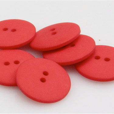 Satin Polyester Buttons - Red