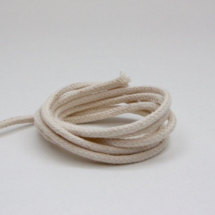 Plaited Cotton Cord 4mm - Ecru